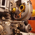 Close up of the original 35mm projector