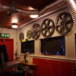 Film reels from original 35mm projector